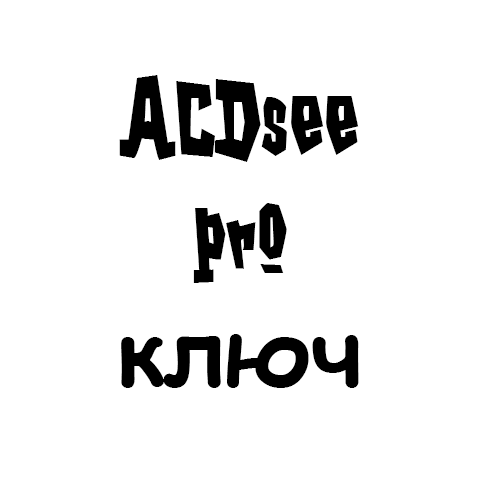 acdsee pro ключ
