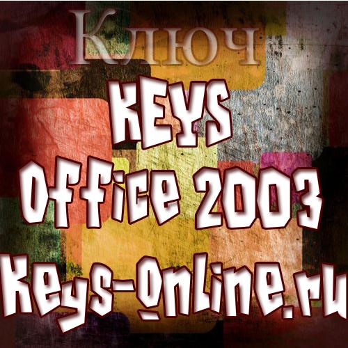 ключи для office 2003