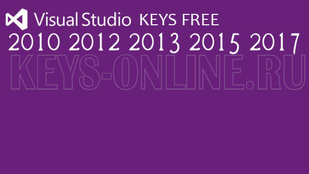Key for Visual Studio 2019 (2015 2013 2012 2017)