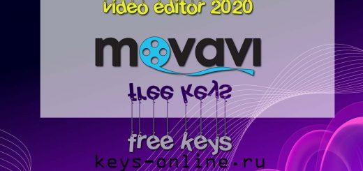 movavi video editor free keys 2020